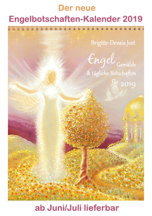 Brigitte Devaia ART Engelbotschaften Kalender Cover 2019 New
